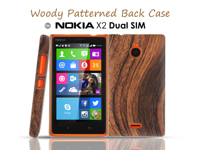 sports shoes 779ac bd301 Nokia X2 Dual SIM Woody Patterned Back Case
