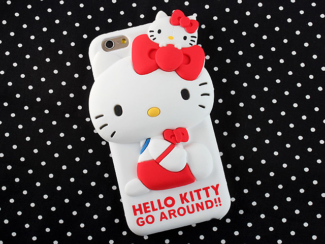 iPhone 6 / 6s 3D Hello Kitty Silicon Case