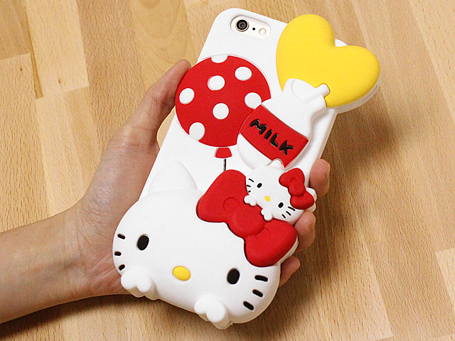 iPhone 6 Plus 3D Hello Kitty Silicon CaseIphone 6 Cases Hello Kitty