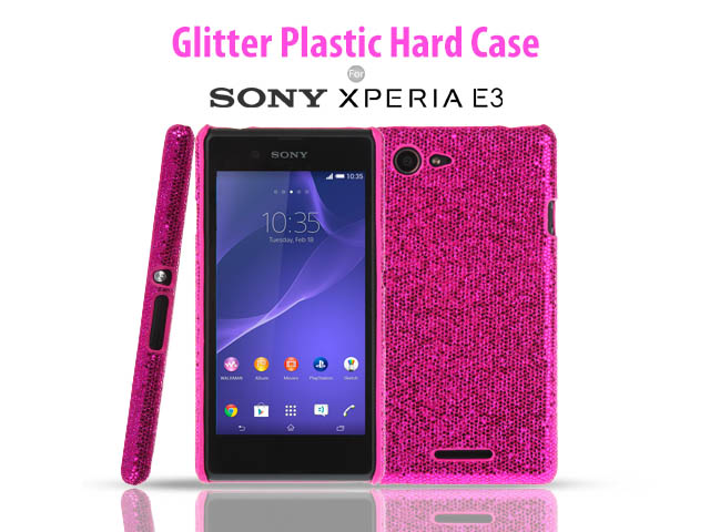 sports shoes 8d3cd 587b7 Sony Xperia E3 Glitter Plactic Hard Case