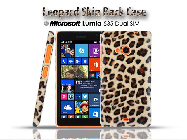 the best attitude 325a5 a4dbf Microsoft Lumia 535 Dual SIM Leopard Skin Back Case