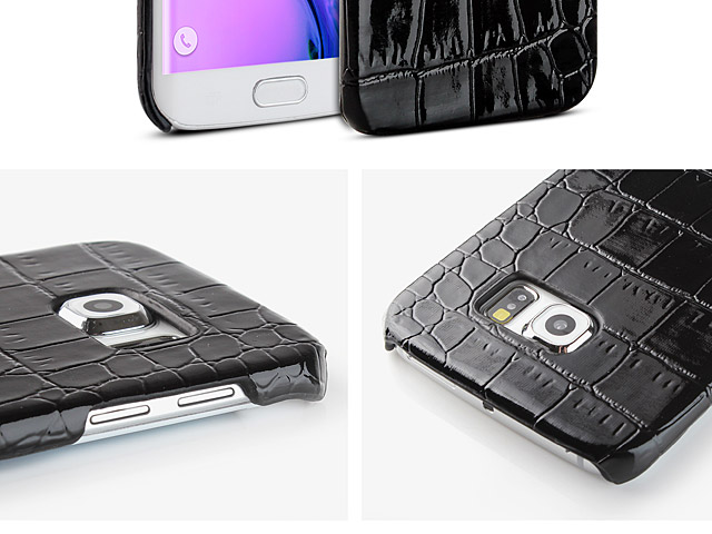 Samsung Galaxy S6 edge Crocodile Leather Back Case