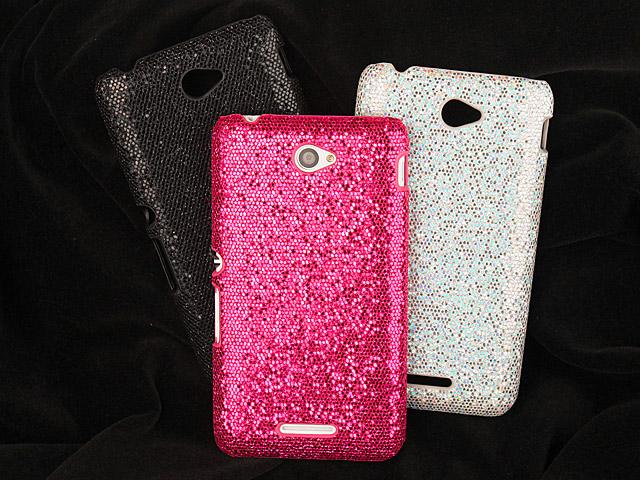 san francisco f529c a8794 Sony Xperia E4 Glitter Plastic Hard Case