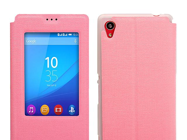 newest 5c07b 70123 Sony Xperia M4 Aqua Dual Flip View Case