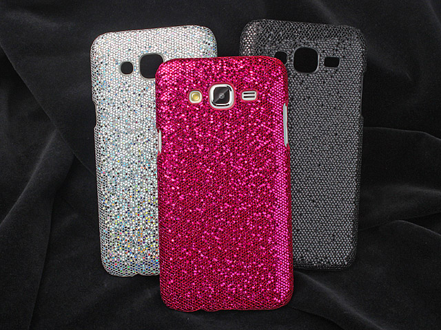 Samsung Galaxy J5 Glitter Plastic Hard Case