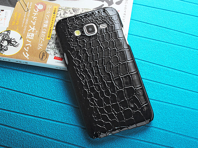 Samsung Galaxy J7 Crocodile Leather Back Case