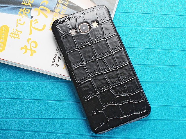Samsung Galaxy A8 Crocodile Leather Back Case