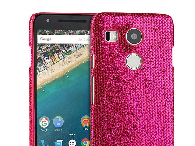 Google Nexus 5x Glitter Plastic Hard Case