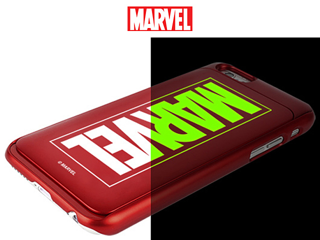 Marvel Logo I Slide Glow Case For Iphone 7 Plus