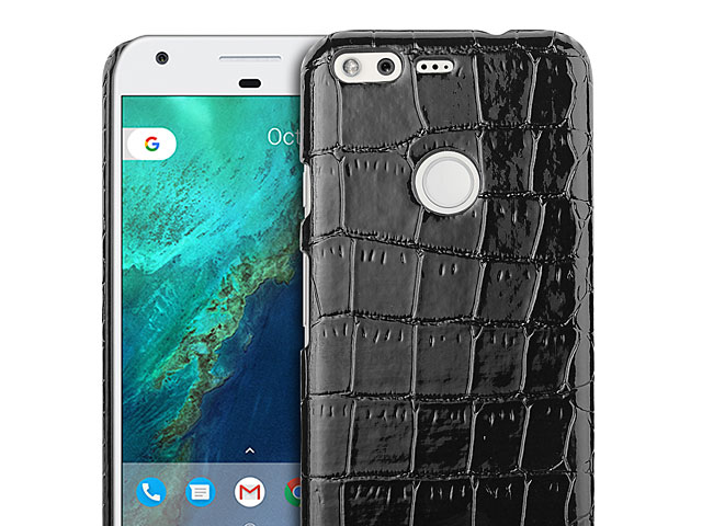 Google Pixel Crocodile Leather Back Case