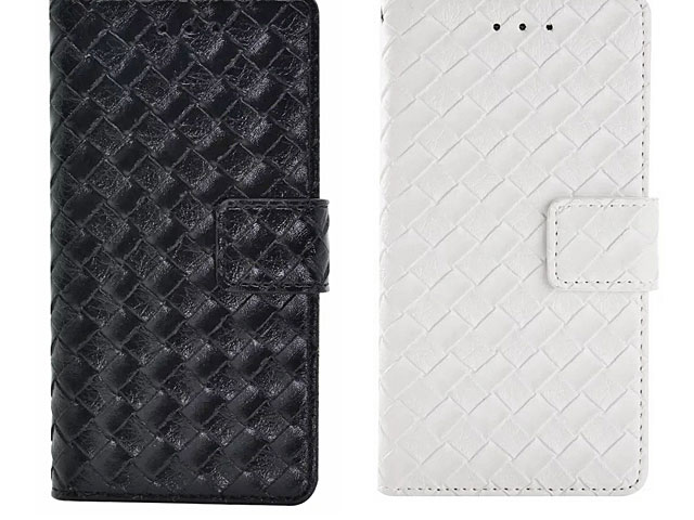 Samsung Galaxy A3 (2016) A3100 Woven Leather Flip Case