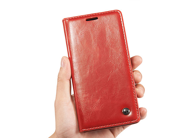 Samsung Galaxy Note 4 Magnetic Flip Leather Wallet Case