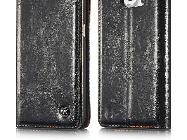 Samsung Galaxy S6 edge Magnetic Flip Leather Wallet Case