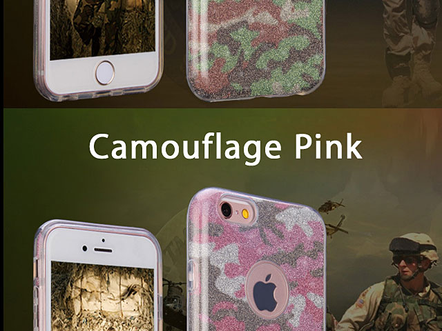 iPhone 5 / 5s / SE Camouflage Glitter Soft Case