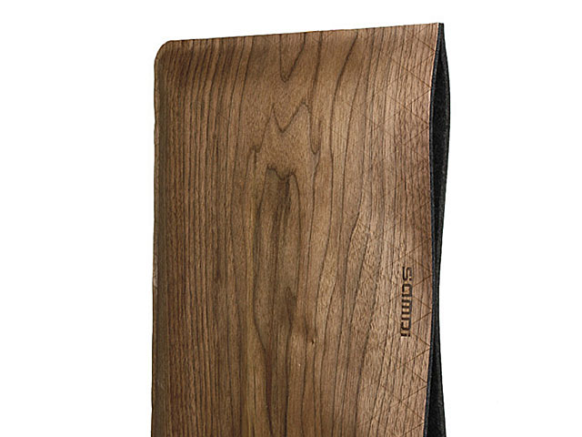 Wood Leather Pouch for MacBook Pro 13""