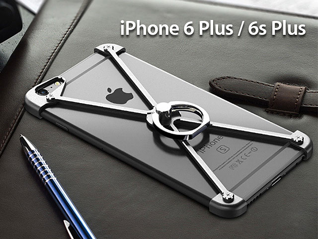 new style 0f349 02670 iPhone 6 Plus / 6s Plus Metal X Bumper Case with Finger Ring