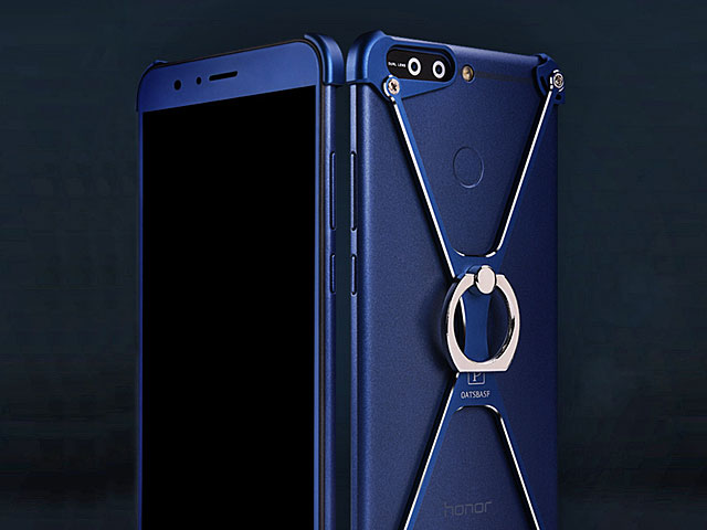quality design 08c35 ab109 Huawei Honor 8 Pro / V9 Metal X Bumper Case with Finger Ring
