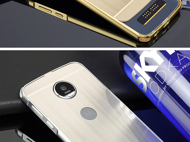 Motorola Moto Z2 Play Metallic Bumper Back Case