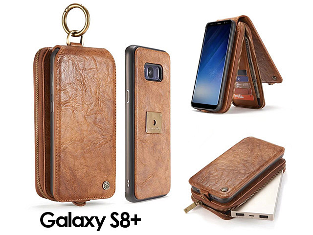 Samsung Galaxy S8+ Coarse Crack Wallet Flip Leather Case