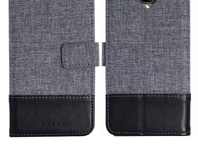 OnePlus 3 / 3T Canvas Leather Flip Card Case
