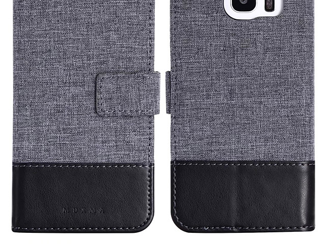 Samsung Galaxy S7 edge Canvas Leather Flip Card Case