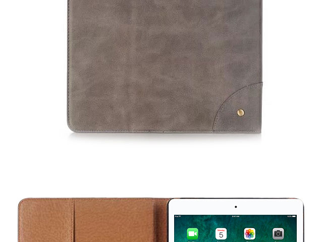 iPad Pro 12.9 (2017) with A10X Fusion Retro Leather Book Case