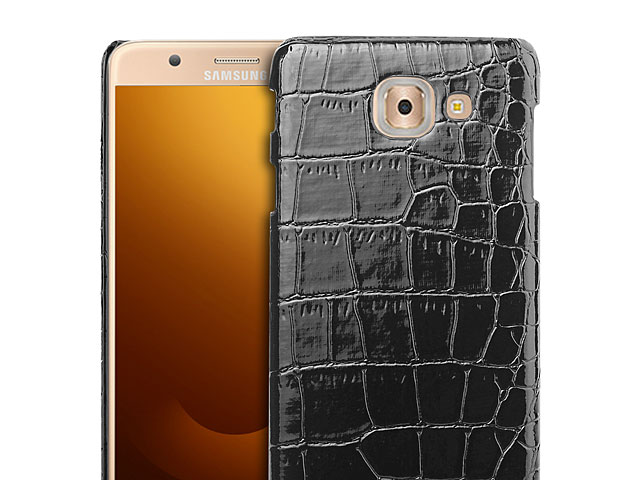 Samsung Galaxy J7 Max Crocodile Leather Back Case