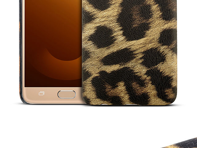 Samsung Galaxy J7 Max Embossed Leopard Stripe Back Case
