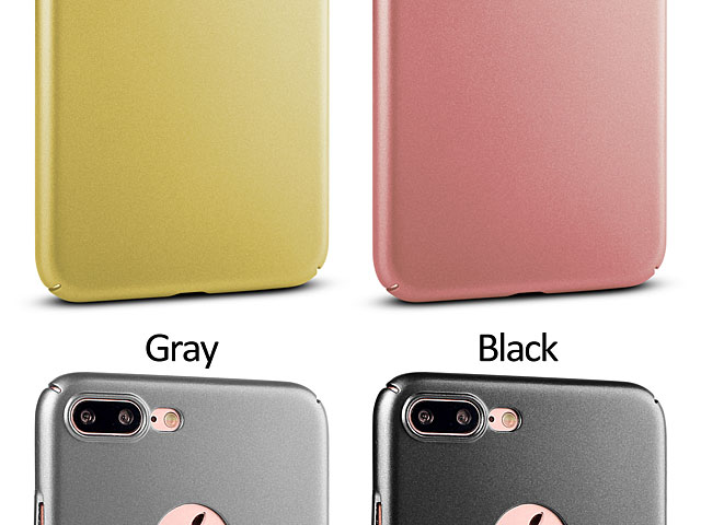 iPhone 8 Plus Ultra-Thin Metallic Plastic Back Case