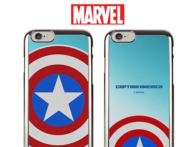 MARVEL Captain America Mirror Art Back Case for iPhone 8 Plus