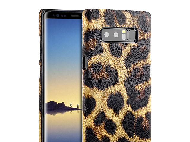 Samsung Galaxy Note8 Embossed Leopard Stripe Back Case