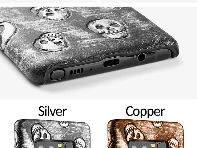 Samsung Galaxy Note8 Embossed Skull Back Case