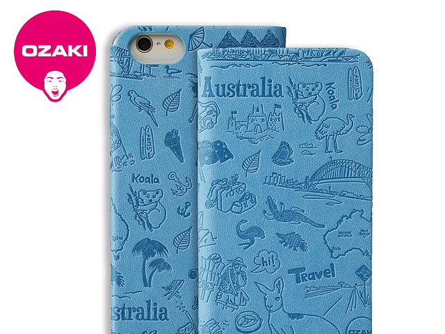Ozaki O!coat Travel Leather Folio Case for iPhone 6 / 6s