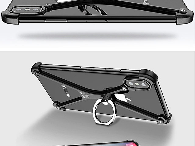 iPhone X Metal X Bumper Case with Finger Ring