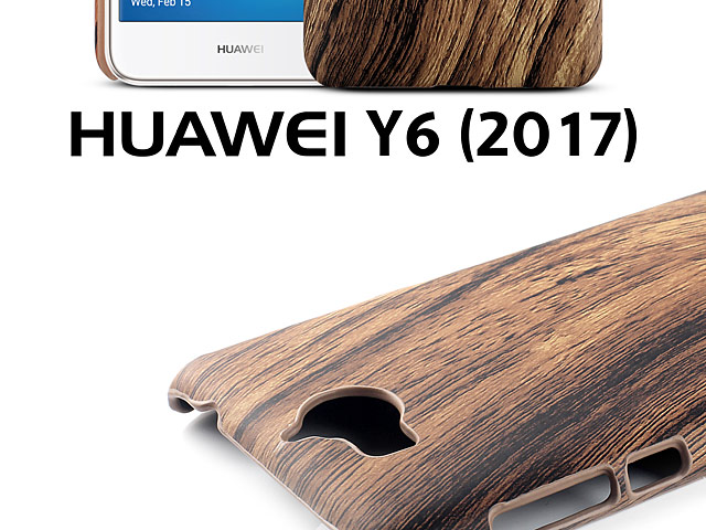 Huawei Y6 (2017) Woody Patterned Back Case