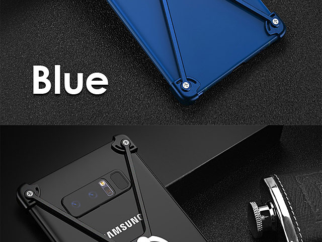 Samsung Galaxy Note8 Metal X Bumper Case with Finger Ring