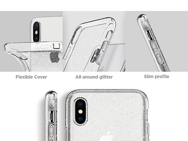 Spigen Liquid Crystal Glitter Soft Case for iPhone X