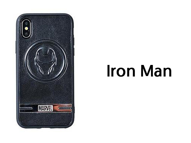 MARVEL Series Leather TPU Case for iPhone X