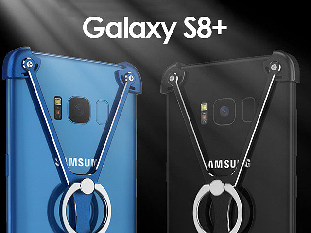 Samsung Galaxy S8+ Metal X Bumper Case with Finger Ring