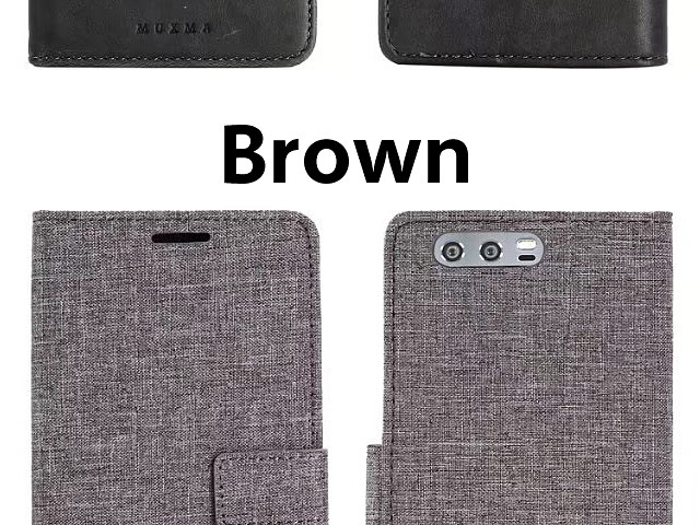 Huawei Honor 9 Canvas Leather Flip Card Case