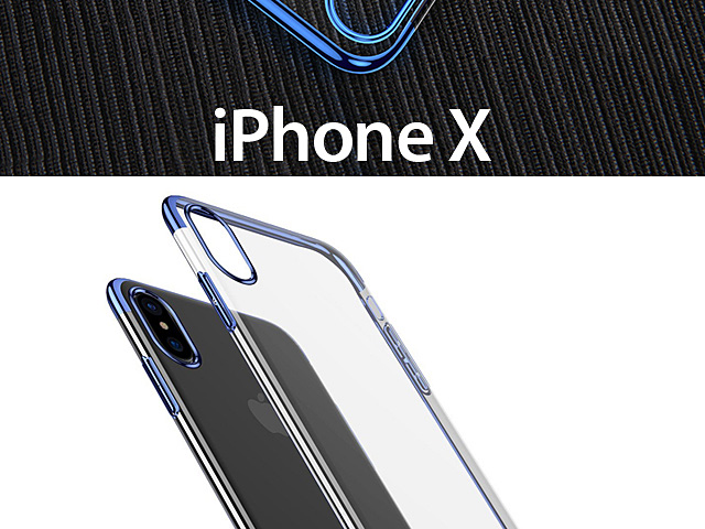 iPhone X Shining Plating Clear Case