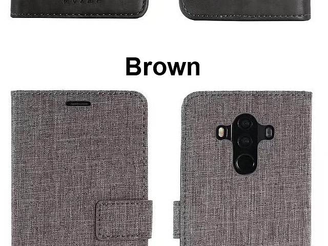 Huawei Mate 10 Pro Canvas Leather Flip Card Case