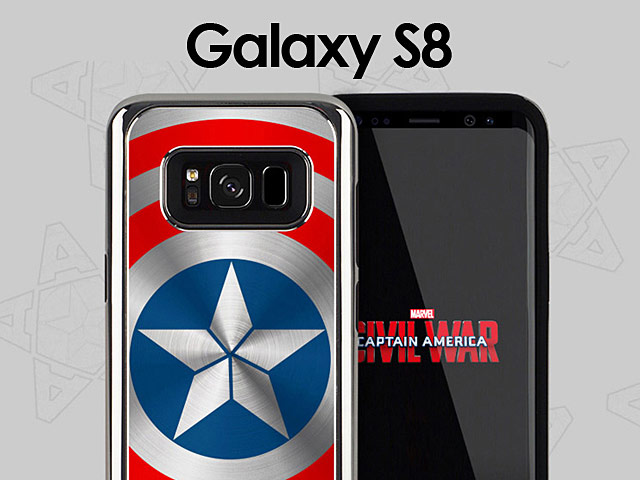 sports shoes 83856 63a71 MARVEL Captain America Shield Case for Samsung Galaxy S8