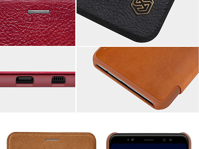 NILLKIN Qin Leather Case for Samsung Galaxy A8 (2018)