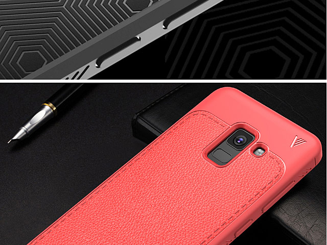 LENUO Gentry Series Leather Coated TPU Case for Samsung Galaxy A8 (2018)
