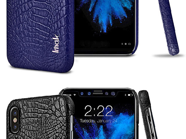 Imak Crocodile Leather Back Case for iPhone X