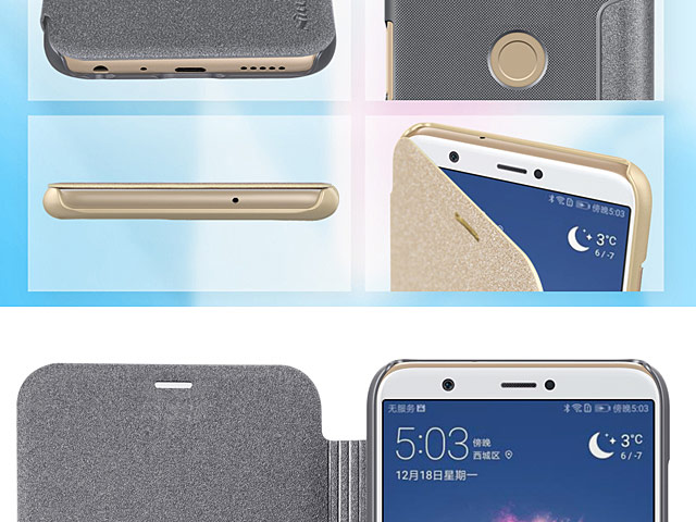 NILLKIN Sparkle Leather Case for Huawei P smart