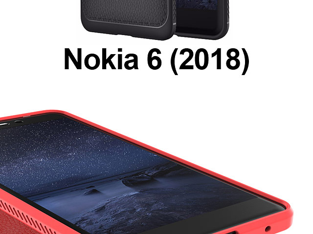 LENUO Gentry Series Leather Coated TPU Case for Nokia 6 (2018)