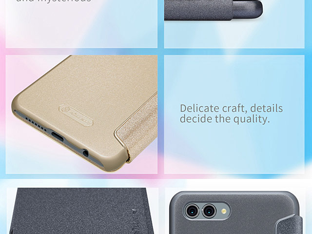 NILLKIN Sparkle Leather Case for Huawei nova 2s