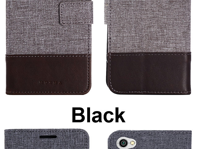 Xiaomi Redmi Y1 (Note 5A) Canvas Leather Flip Card Case